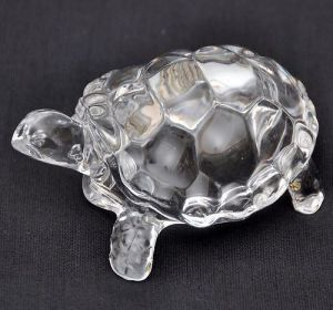 Saini Dilli Store Original Crystal Tortoise Turtle For Feng Shui Vaastu Gift Career And Luck 4.5 Inchs