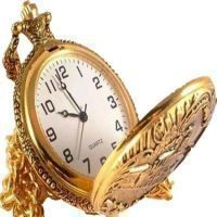 Mahatma Gandhi Style Golden Pocket Watch