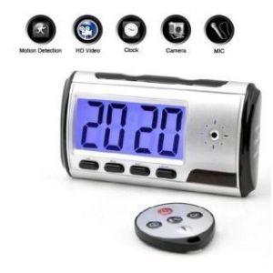 Security Cameras - Spy Digital Table Clock With Audio & Video Camera Watch