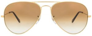 "Classic Aviator Style Men""s Sunglasses Golden Frame/brown Gradient"