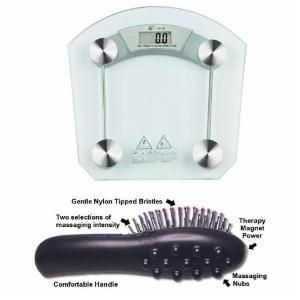 Digital Weighing Scale With Free Magnetic Brush