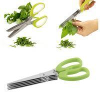 Mo Multifunction 5 Blade Vegetable Stainless Steel Herbs Scissor
