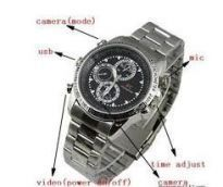Home Utility Gadgets - 14gb Mini HD Steel Wrist Watch Spy Camera Hidden Video Camcorder Dvr 4GB Waterproof Mini HD Steel Wrist Watch Spy Camera Hidden Video Camcorder Dvr