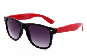 Retro Uv Proetected Black And Red Wayfarer Sunglasses