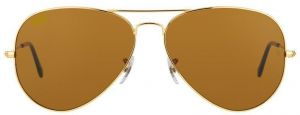 "Classic Aviator Style Men""s Sunglasses Golden Frame/brown Lens"