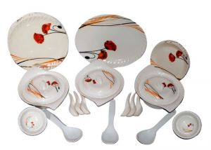 Lifestyle 40 PCs Melamine Dinner Set Le-pg-014, Multicolor