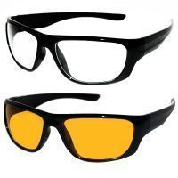 Bike Styling Products - Day & Night Driving Sunglasses Set Of 2