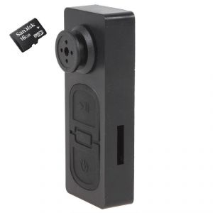Perfecto Spy Button Camera Camera With 16 GB Micro SD