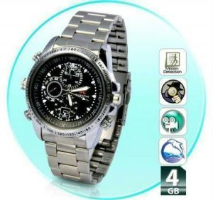 4GB HD Spy Wrist Watch Camera Hidden Camcorder