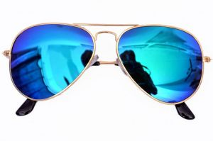 V.s Blue Mercury Aviator Sunglasses