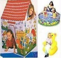 Picnic Combo - Tent House With Teddy Chair And 2 Ft Pool