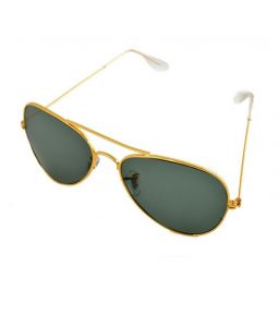triveni,platinum,ag,estoss,Lime,Bagforever,Riti Riwaz,Sigma,Lotto,Lew Apparels & Accessories - Lime Grey Aviator Look Sunglasses With Golden Frame