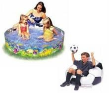 Swimming Pool 4 Feet Football /s Beanless Bag