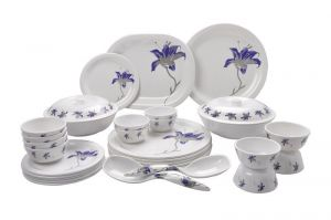Mehul Sonata Dinner Set 31 Pieces Oil & Haldi Daag Resistant Melamine Look 2023