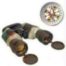 Russian Binocular & 38 MM Magnetic Compass