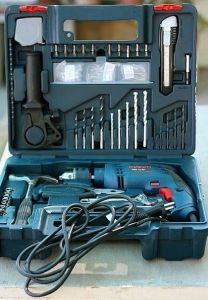 Power Tools - Bosch Gsb 13 Re / 600 Re Impact Drill 13mm 600w Tool Kit