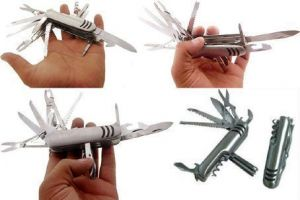 21 In1 Swiss Knife Pocket Toolkit Handy Steel Army Knife, Good For Travelin
