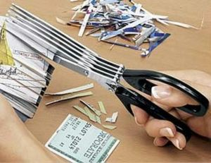 Stationery Utilities - Shredder Scissors Cut And Shred