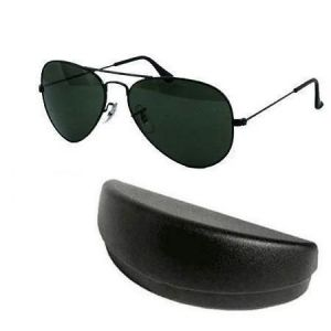 Black Aviator Sunglasses Mens Sunglass With Hard Case