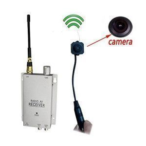Security Cameras - Podofo Wireless Security Camera With Receiver Spy Pinhole Micro Cam Complete Surveillance System Cctv Camera