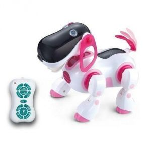 Smart Dog IR Rc Smart Storytelling Sing Dance Walking Talking Dialogue Robot Dog Pet Toy. Pink Color
