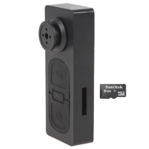 Perfecto Spy Button Camera Camera With 8 GB Micro SD