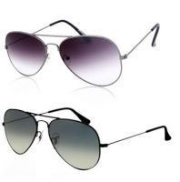 Women & Men Combo - Buy 1 Purple Aviator & Get 1 Black Aviator Sunglass Fre