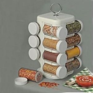 Kitchen racks & holders - 16 Jar Kitchen Mate Revolving Multipurpose Rack