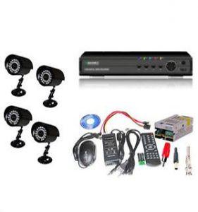 Security Cameras - Set Of 4 Night Vision Cctv Bullet Cameras