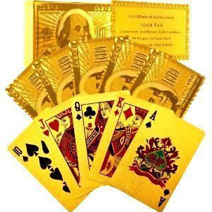 Superdeals Exclusive Gold Playing Cards With Certificate