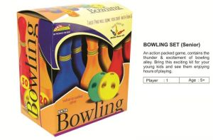 Ekta Bowling Set Senior 6 Pins 2 Balls Sr Kids Plastic Alley Colorful Toy G