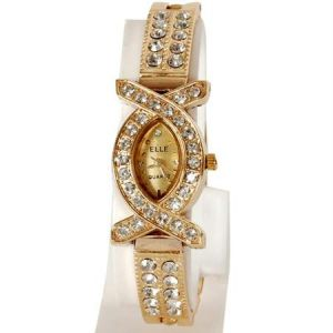 Diamond Studded Party Wear Wrist Watch For Women
