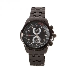 Curren Black Dial Metal Strap Analog Casual Watch