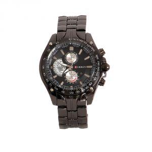 Mens' Watches   Round Dial   Metal Belt   Analog - Curren Men Black Ocean Series Watch