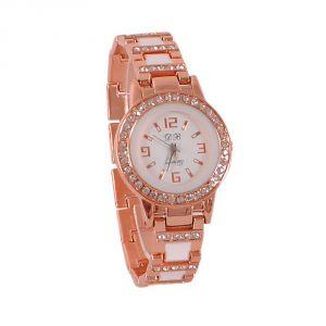 Women's Watches   Metal Belt   Analog - ROSE GOLD FANCY LADIES WATCH- DB Rose Gold