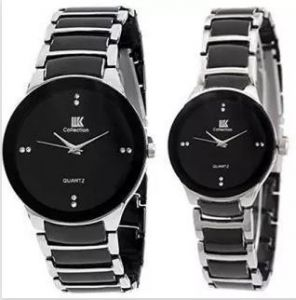 Metal strap - New Iik Fancy Couple Watche For Men Women