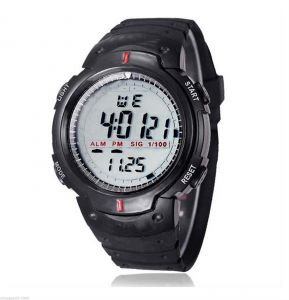 Synthetic - New Waterproof Mens Digital Quartz Alarm Date Sports Wrist Watch