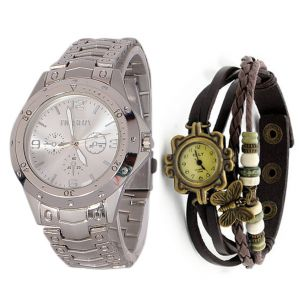 Couple watches - Couple Wrist Watch Mfp77 Buy 1 Get 1 Free