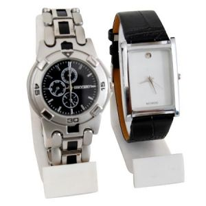 New 2 Stylish Leather & Steel Watch Mfpw36201212
