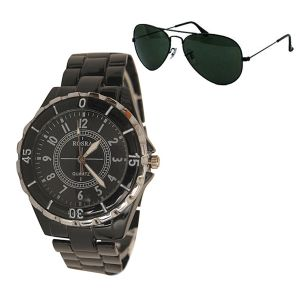 Executive Watch For Men Free Aviator Sunglasess - Mfwav6