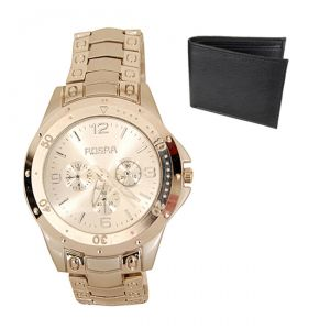 New Stylish Wrist Watch For Men Free Wallet-mfwnw4
