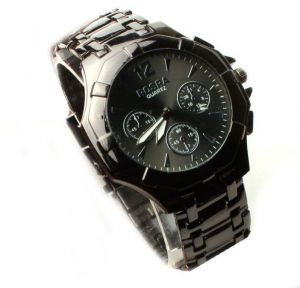 Rosra Full Black Wrist Watch For Men