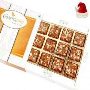 Christmas Cakes - Christmas Gifts Mithai Cake -Sugarfree Healthy Energy Cereal/ Seeds Khajoor Bites
