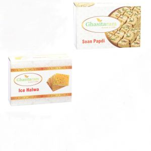 Mithai Hampers - Soan Papdi And Ice Halwa