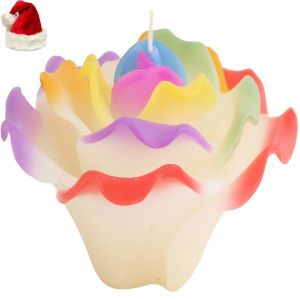 Christmas Candles - Christmas Candles -  Multicolor Flower Candle