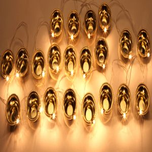 Decorative Lights-21 Golden Diyas Trail Light