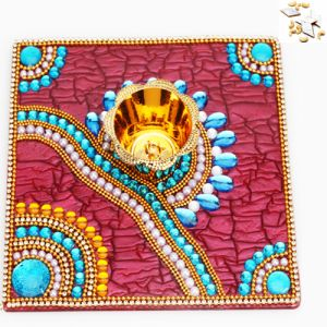 Ghasitaram Gifts-traditional Light Diya Tray