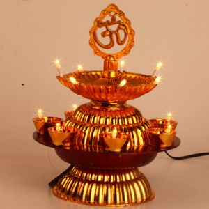 Decorative Lights-om Double Layer Diya Lights