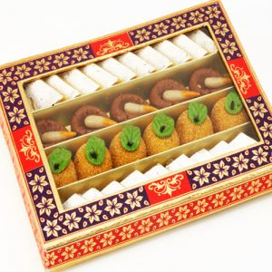 Sweets-ghasitaram Gifts Sugarfree Mix Mithai Box