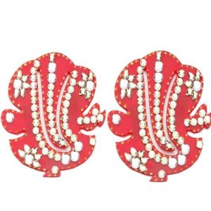 Decoratives - Stone Studded Ganesha Pair